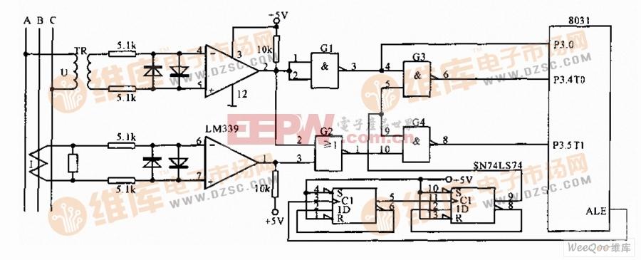 三相电网测量接口电路