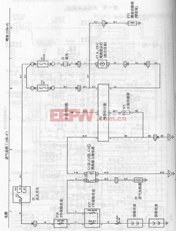 丰田考斯特客车发动机电路图一图片