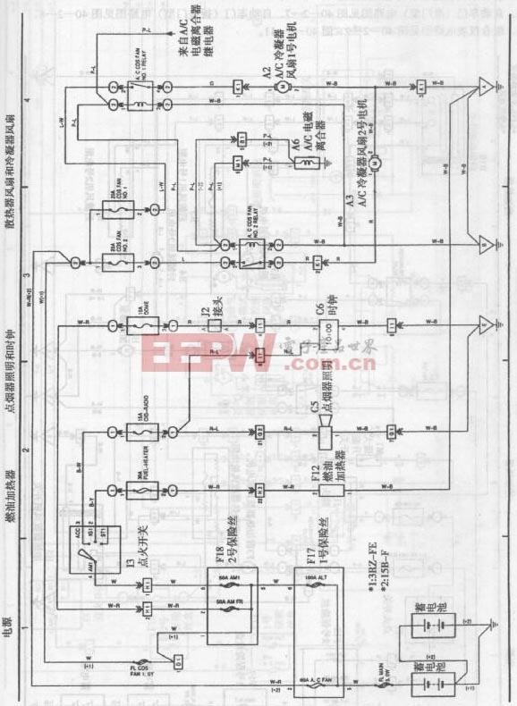 丰田考斯特客车发动机电路图二图片