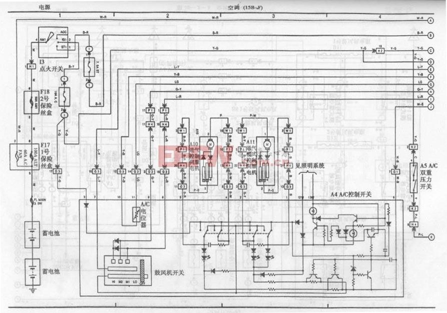丰田考斯特客车空调系统电路图四