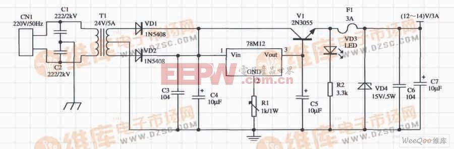 基于W78×××构成的扩大输出电流的应用电路(二)