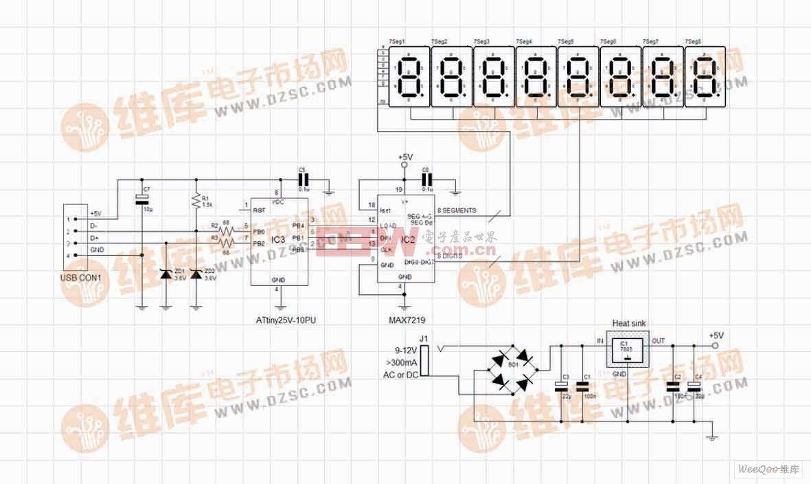 简易网站访客计数器电路