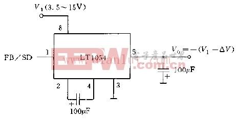 利用LT1054构成的负电压变换器电路