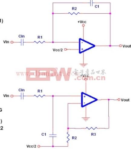 典型低通滤波器电路原理图