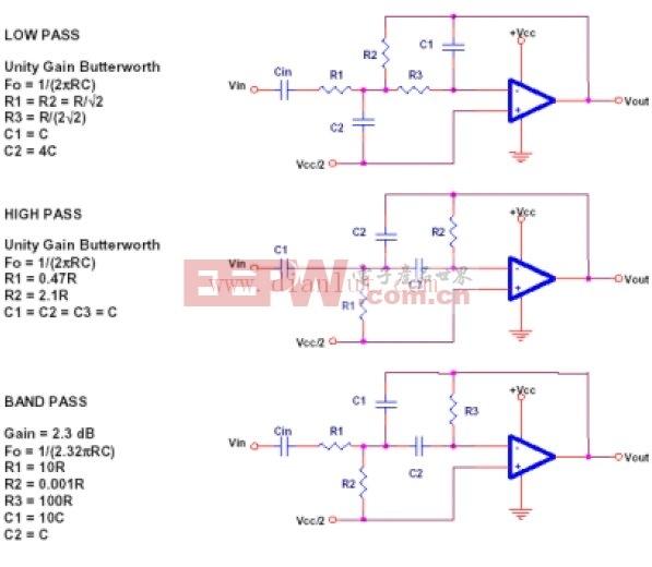 多反馈滤波器电路原理图