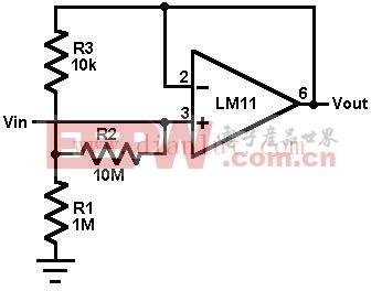 用LM11设计的电压跟随器电路