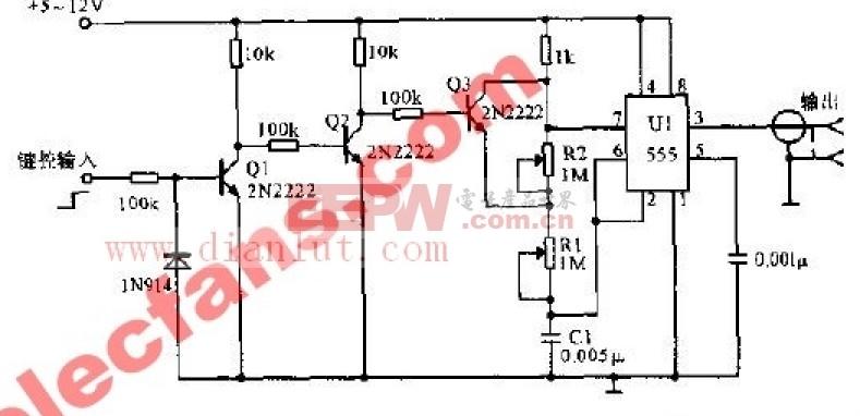 AFSK偏移到20KHz的电路原理图