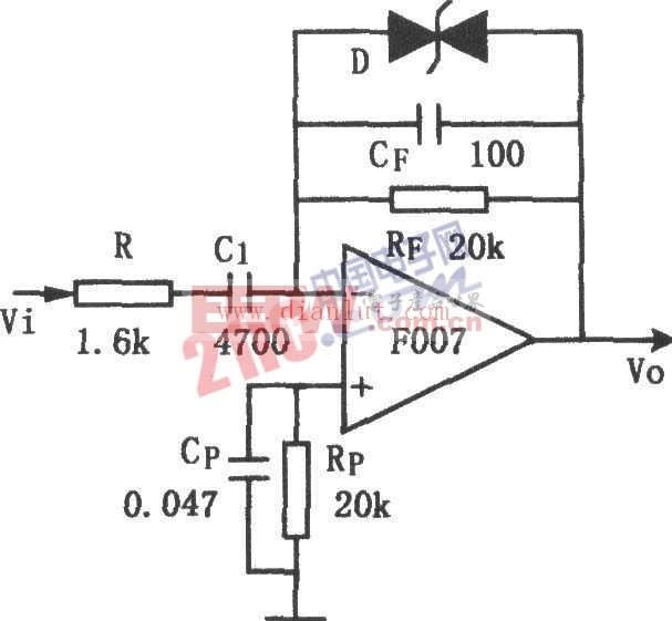 低噪声微分器电子电路