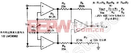 LMC6062仪表放大器电路图