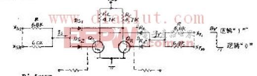 输入或非信号控制的触发器电路原理图