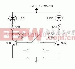 集合/复位触发器电路原理图
