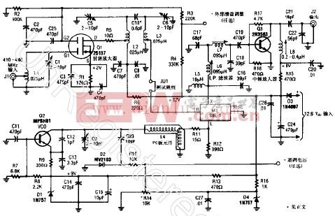 ATV信号下变频器电路原理图