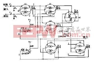 无调谐电路的数字式频率比较器电路原理图