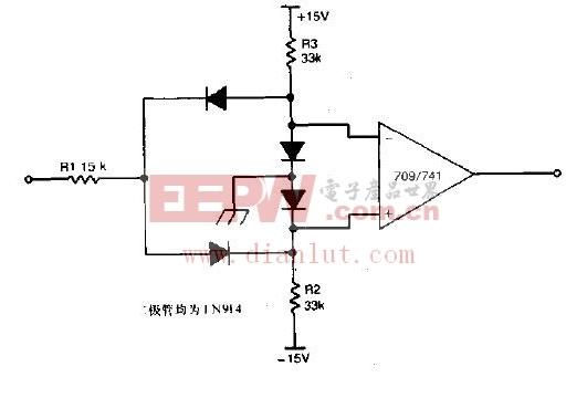 典型的双极限比较器电路