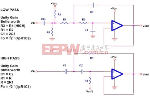 Sallen-Key滤波器电路原理图