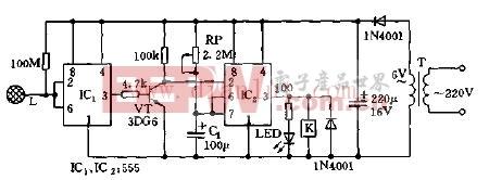 感应式自动开关电路
