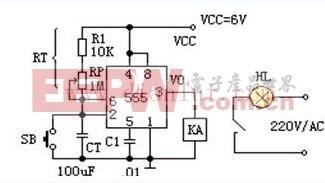 基于555定时器构成限时门锁报警器电路 -定时器