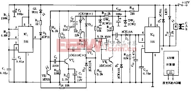 生产线自动计数装置电路