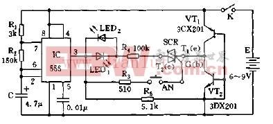 可控硅快速测试仪器电路