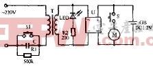 超人RSCW-102充电式电动剃须刀电路原理图