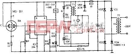 玉立牌CST-8-170型抽油烟机自动监控电路原理图