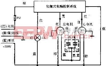 奥达YP5-4C豪华超薄型双风道抽油烟机电路原理图
