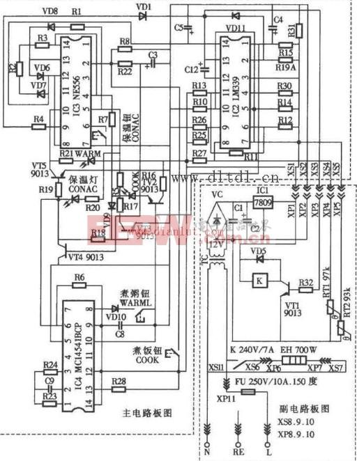 容声CFXB50-90DA电饭锅电路设计