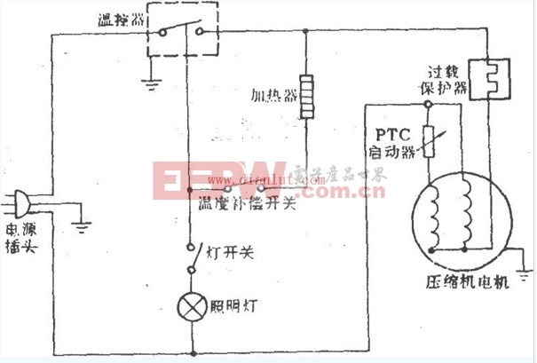 容声5CD-103型电冰箱电路设计