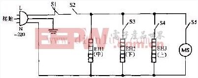 金宝牌PH-8 PH-12 NL-8 NL-12豪华型远红外电暖器电路