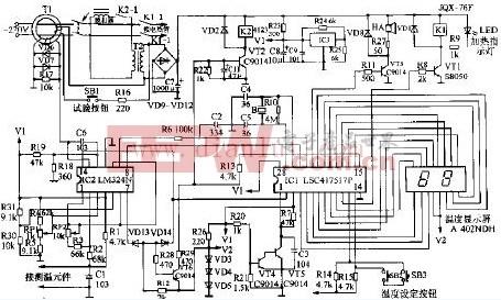 玉环牌CDR-30A电热水器电路设计