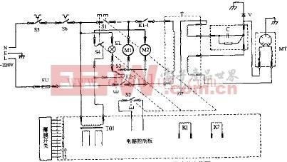 格兰仕WP750B电脑式微波炉电路原理图