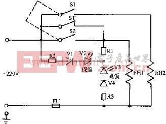 乐宝、富豪保温式自动电饭锅电路原理图
