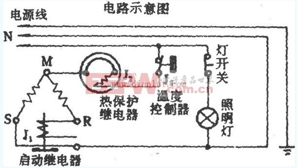 中意BCD-185型电冰箱电路设计