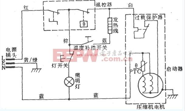 容声BCD-190型电冰箱电路设计