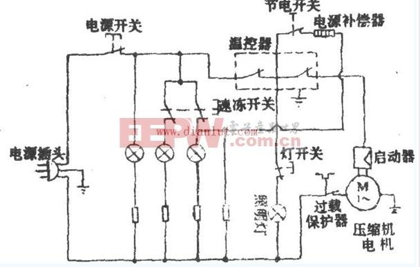 新飞BCD-245型电冰箱电路设计