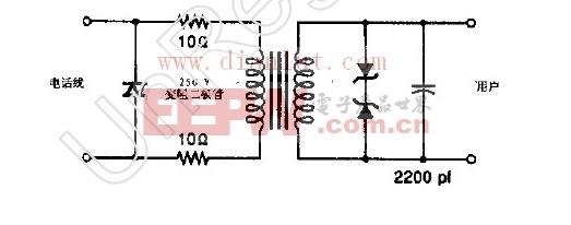 FCC PART68电话接口电路图