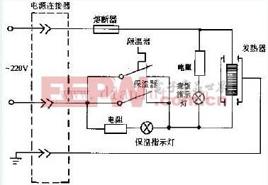 爱华CFXB型保温式自动电饭锅电路