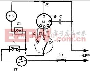 钻运牌KYT-25转页扇电路原理图