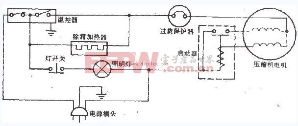 施乐华BCD-38型三门电冰箱电路
