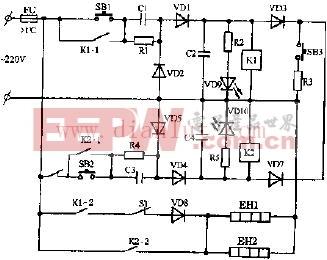 容声DX-60A双温电子消毒柜电路原理图