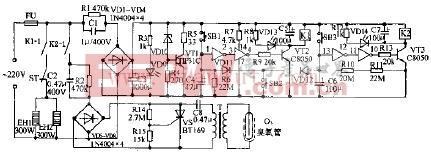 精艺ZLD-63双功能电子消毒柜电路原理图
