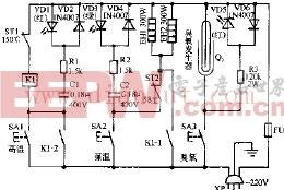 格力ZTP-75A双功能电子消毒柜电路原理图