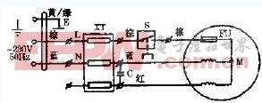金羚牌豪华型百叶窗式单向连动橱窗式换气扇电路