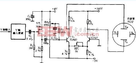 简易小型示波器Y轴系统电路