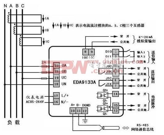 EDA9133在风力发电系统中的应用电路原理图