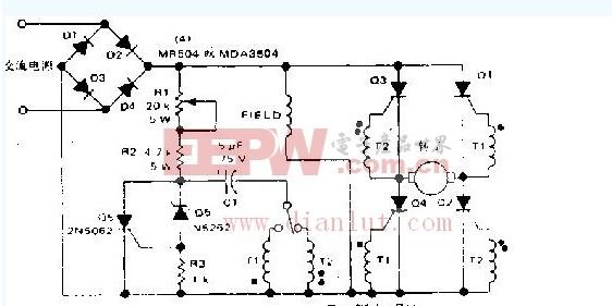 关于控制并绕电机的转向和速度电路图