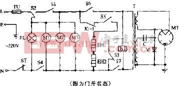 万和WK237A机械式烧烤型微波炉电路