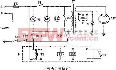 万和WD237 WES237电脑式微波炉电路