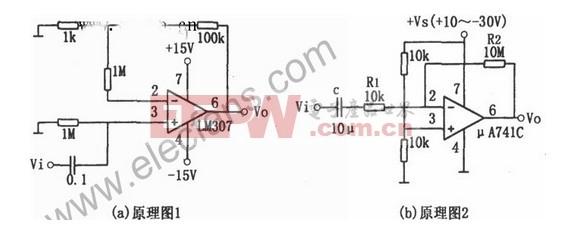 LM307与μA741设计的音频放大电路