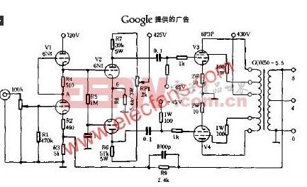 电子管功放的调试电路原理图原理